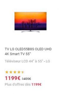 Bonne affaire sur le téléviseur LG.